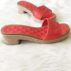 f6962ebc8fd Tory Burch Shoes - Tory Burch Red Fleming Leather Espadrille Sandals